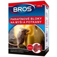 BROS Parafínové bloky na myši a potkany 100g - rodenticid